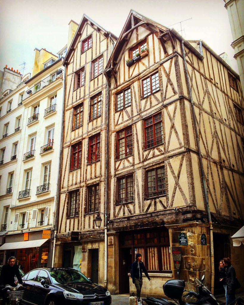 Almost the two oldest houses in Paris possibly dating back
