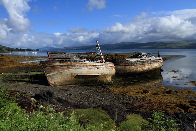 Wrecks on Isle of Mull