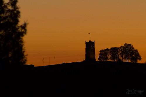 sunset orange silhouette norway twilight dusk pov no landmark pointofview bluehour goldenhour tønsberg contours vestfold slottsfjelltårnet menyråel