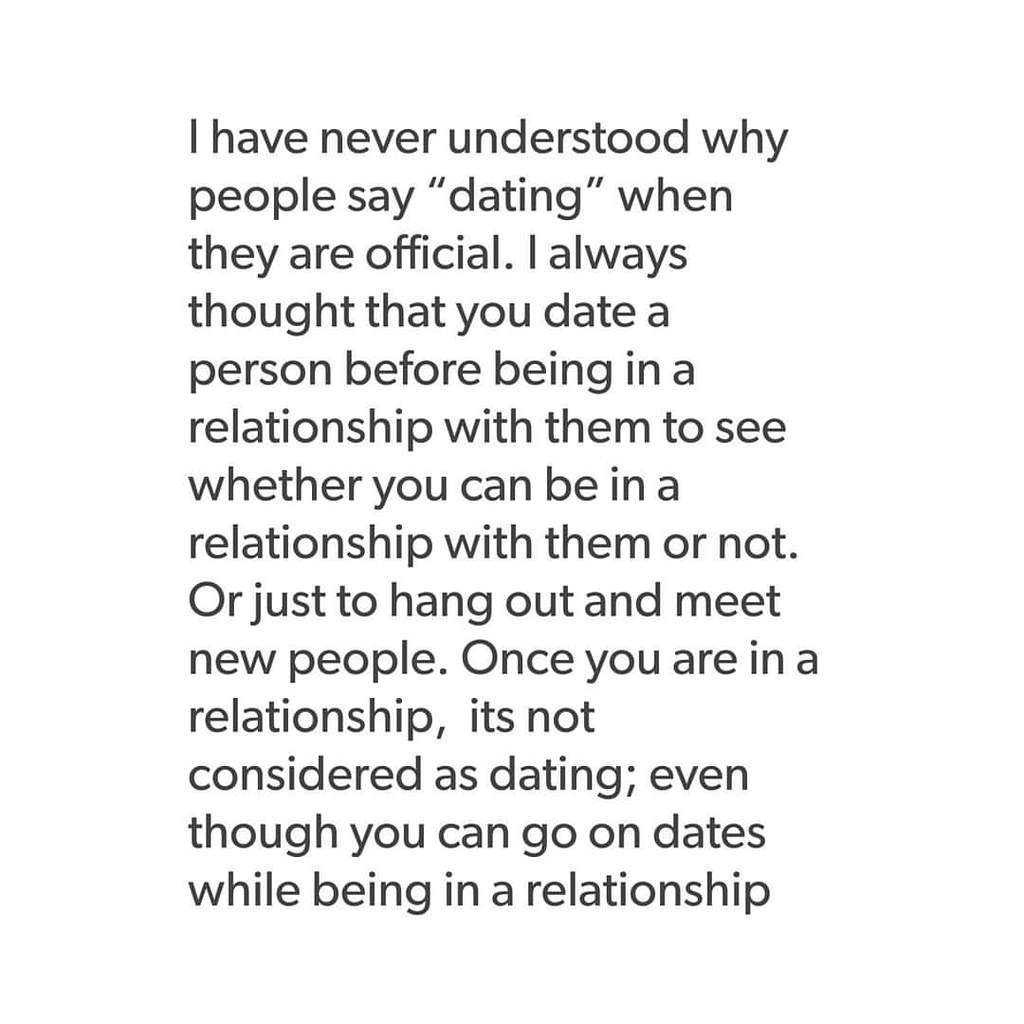 Dating is different nowadays