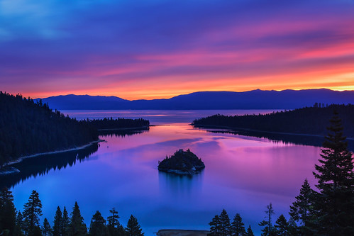 california lake mountains reflection water clouds sunrise canon 24105mmf4l laketahoe sierranevada emeraldbay 6d fannetteisland canon6d