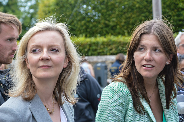 Michelle Donelan with Liz Truss