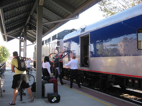 Loading Bicycles on Amtrak Piedmont Train | by ITRE NCSU