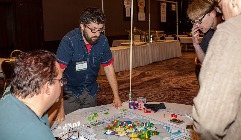 Players and dealers attend Gamex 2015, the final convention of the year from Strategicon. Featuring board games, RPG, Video Games, Family Games, Party Games, LARPS, and much more. Event took place September 4 through September 7, 2015 at the Hilton LAX