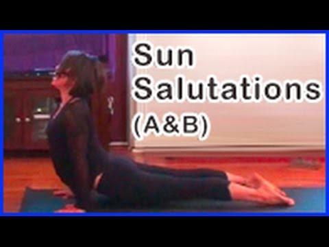 beginner's yoga sun salutations part a  b  surya nama