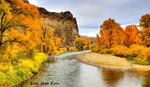 granby colorado unitedstates us river autumn water flow cottonwood