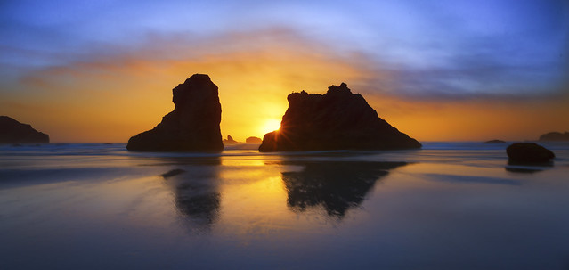 Sunset Colors at the Ocean (Bandon, OR)