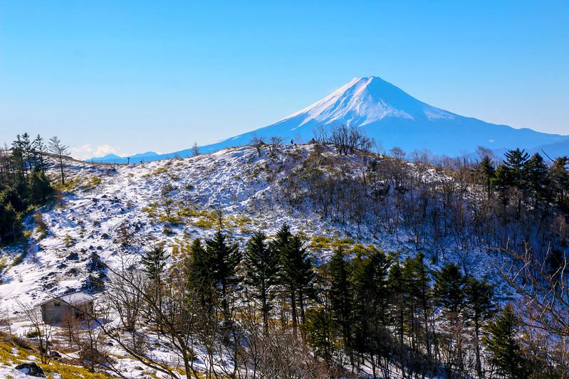 大菩薩嶺から見える富士山