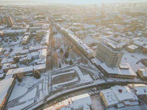winter2016 snow white autumn 2016 europe djieurope baltic panevėžys lithuania lietuva drone aerial dronas aerialphotography dji djiphantom3 phantom phantom3 phantom3advanced advanced birdseye landscape djiglobal panevezys