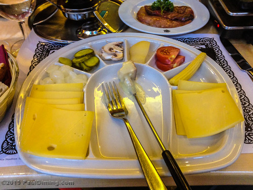 Cheese, Fruit & Vegatables for Fondue @ Swiss Chuchi Restaurant, Hotel Adler - Zurich, Switzerland | by Paul Diming