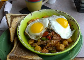 Breakfast hash at Legends Bistro | by Ruth and Dave