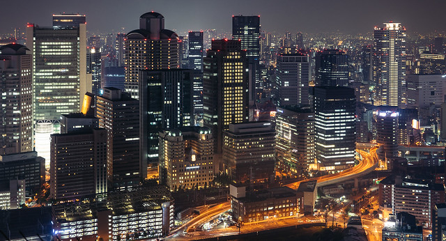 Night View, Osaka, Japan