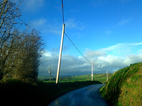 road ireland irish green clouds rural landscape countryside hedge lane telegraphpole newmarket htt iphone5 2015onephotoeachday