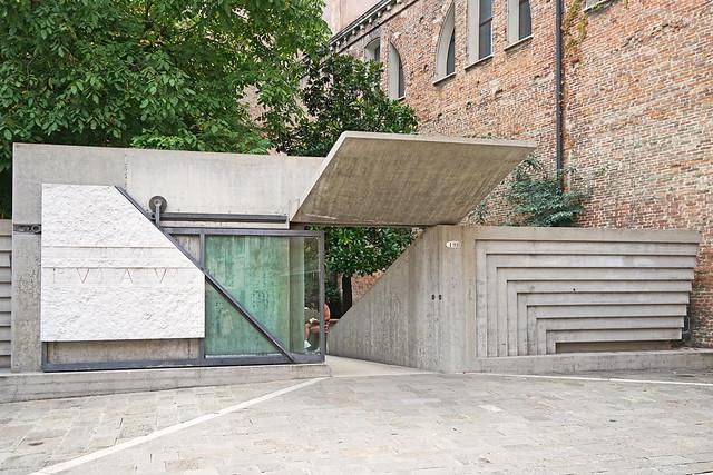 L'entrée de l'université d'architecture IUAV (Venise)
