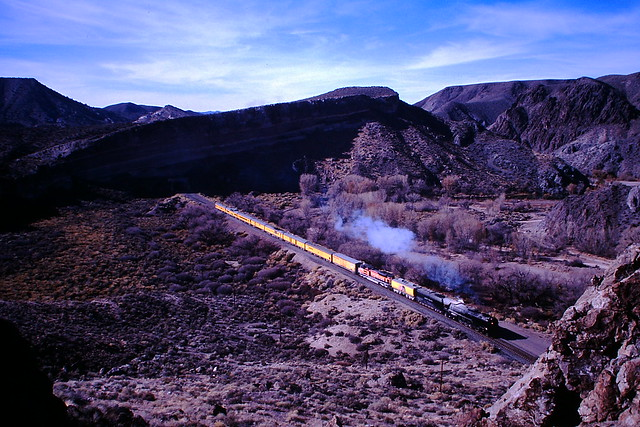 Slide 7 showcases a steam special on the Los Angeles and Salt Lake route
