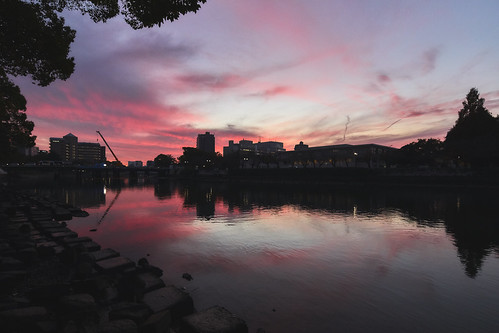 eos5dmarkⅳ tse17mmf4l river sunset