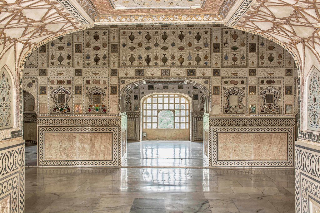 view of Sheesh Mahal, Amer Fort | The Amer Fort, situated in… | Flickr