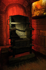 Netherlands, Amsterdam, The Torture Museum, the Inquisition Chair