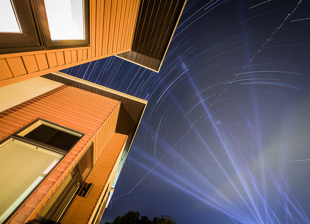 The spotlights from Austin City Limits 2015 provided a great backdrop to my star trails