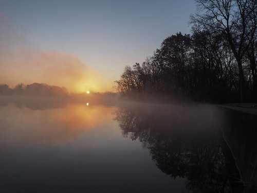 morning fog sunrise dawn flickr indiana elkhart stjosephriver