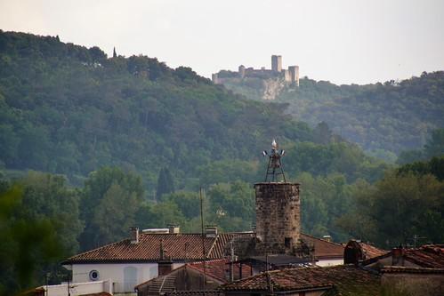 château de Tornac et clocher d'Anduze | by Jeanne Menjoulet
