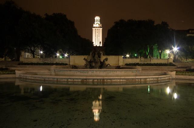 University of Texas Tower at Night