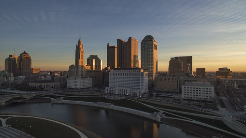 morning columbus ohio skyline cityscape drone phantom3 dji quadcopter phantomquadcopter