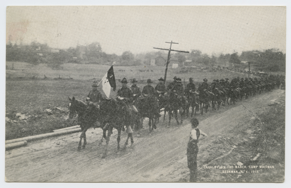 Calvary on the March, Camp Whitman.