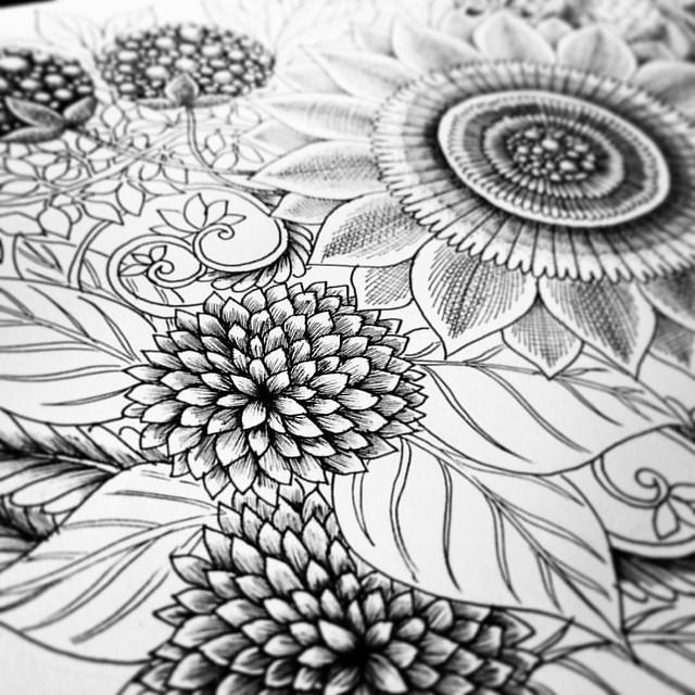 Drawing whole day :) #sketching #ink #art #pen #pencil #black #blackandwhite  #flower #floral #botanical