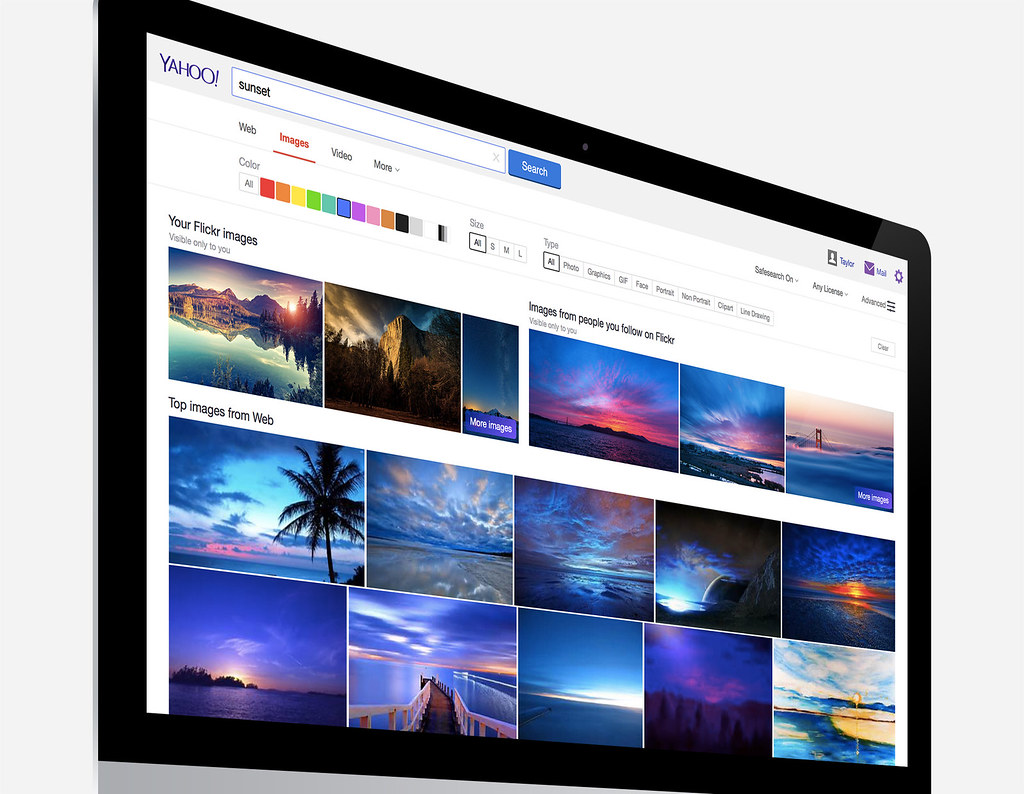 Flickr in Yahoo Image Search