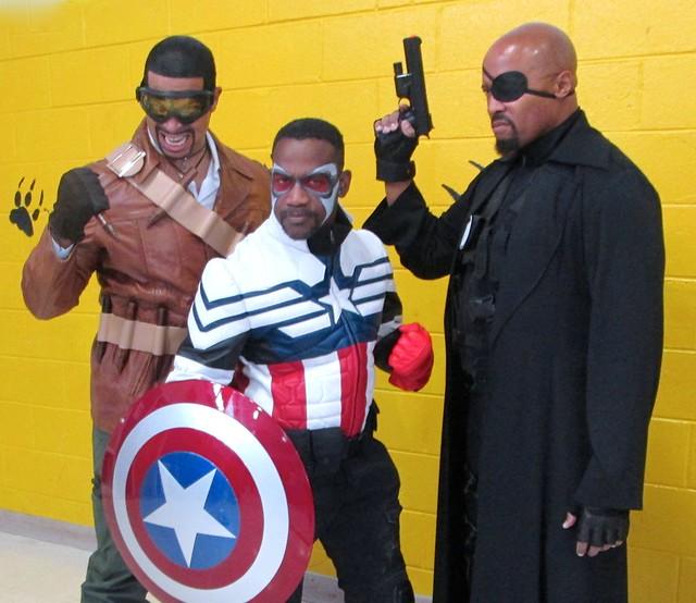 Nick Fury, Blade, Captain America