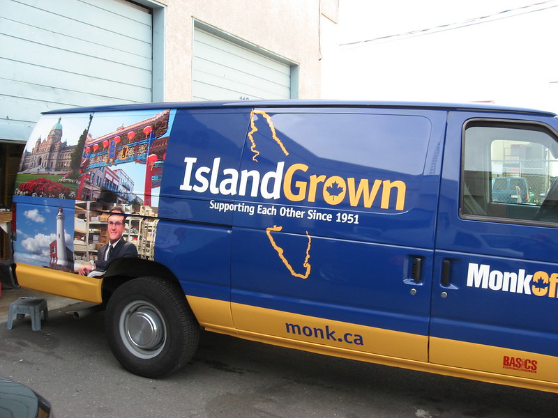 Monk van side vehicle graphics