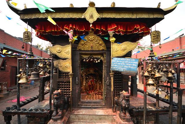 Nepal - Bungamati - Karya Binayak Temple - Ganesh Shrine - 5
