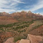 Zion valley from Watchman trail, Zion