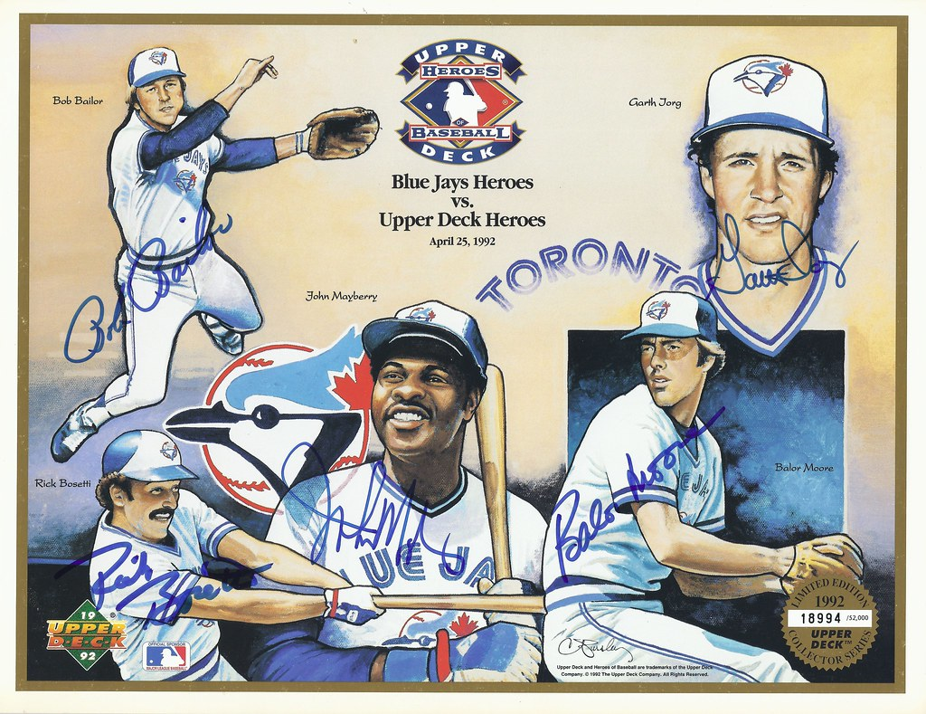 1992 Upper Deck Blue Jays Heroes Limited Numbered Editio Flickr