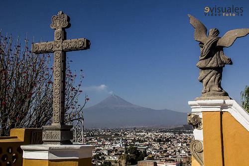 - Popocatepetl and Iztaccihuatl at sunset