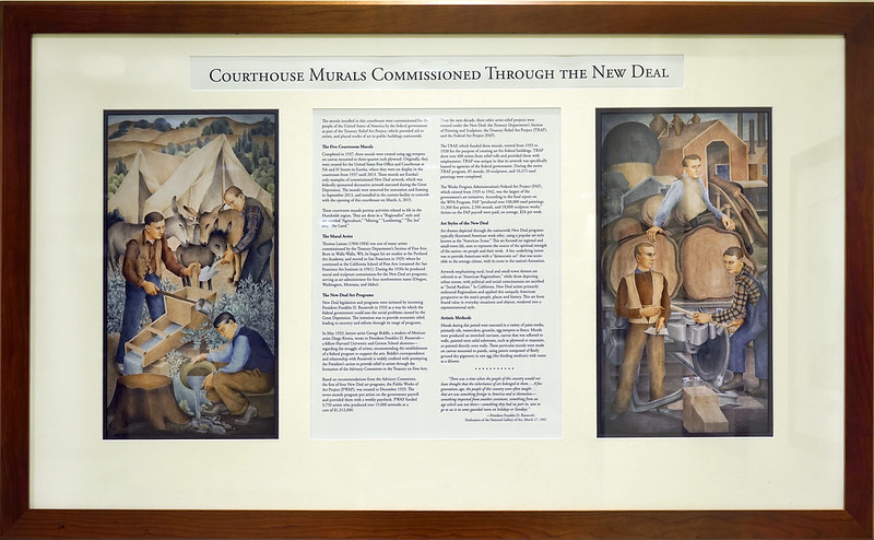 Courthouse Murals commission through the New Deal