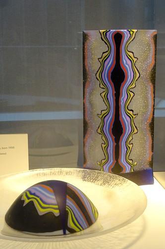 corning newyork corningmuseumofglass artcrawl thestudioat20 femaleiii glass kilnformed cut sandblasted rudigritsch