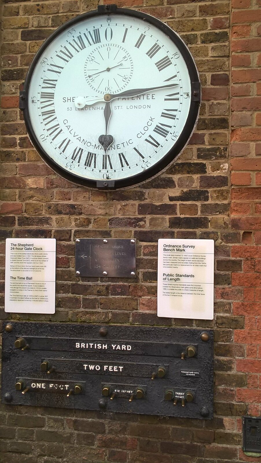24 Hour Clock Royal Observatory, Greenwich