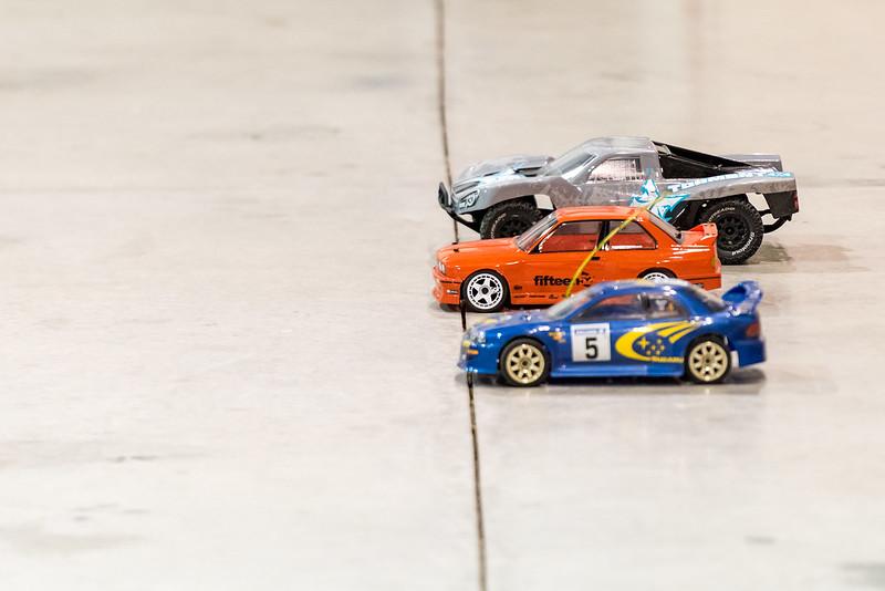 Drag race - ECX Torment, HPI BMW M3 and Thunder Tiger Subaru Impreza.