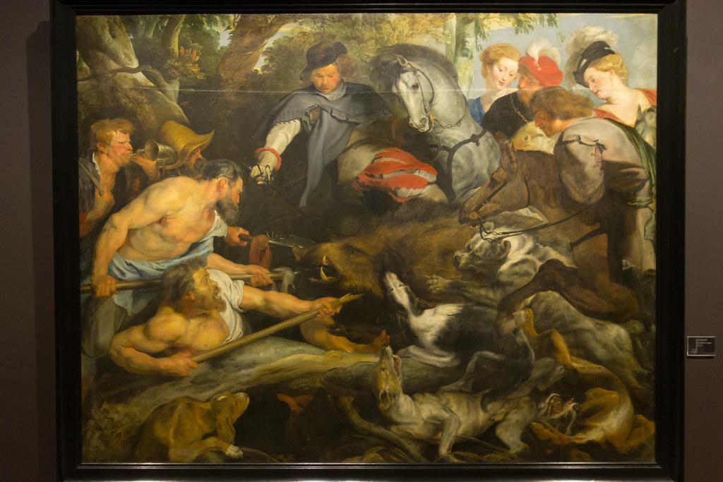 La chasse au sanglier par Pierre-Paul Rubens   Musée des B