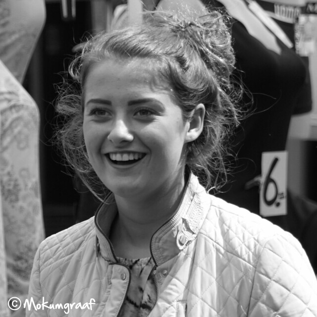Girl with a beautiful smile. Amsterdam