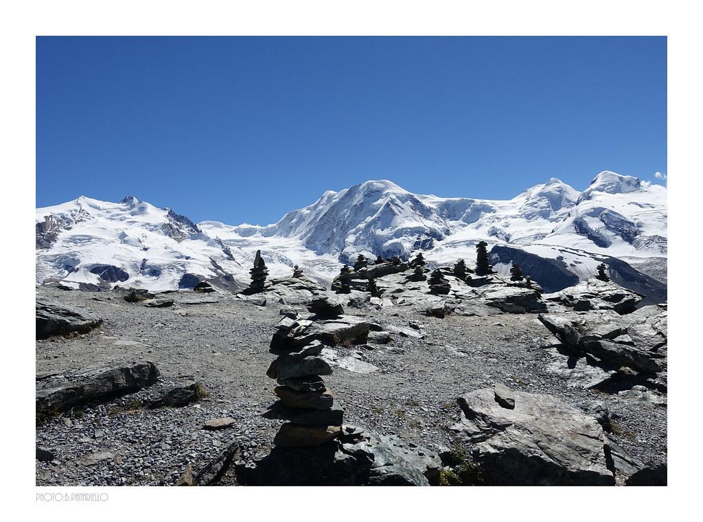 View from the top of GORNEGRAT (3100 m) Switzerland