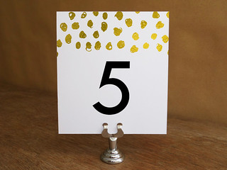 Gold Dot Printable Table Number Template