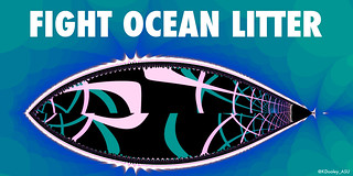 Sustainability poster - Fight ocean litter | by kevin dooley