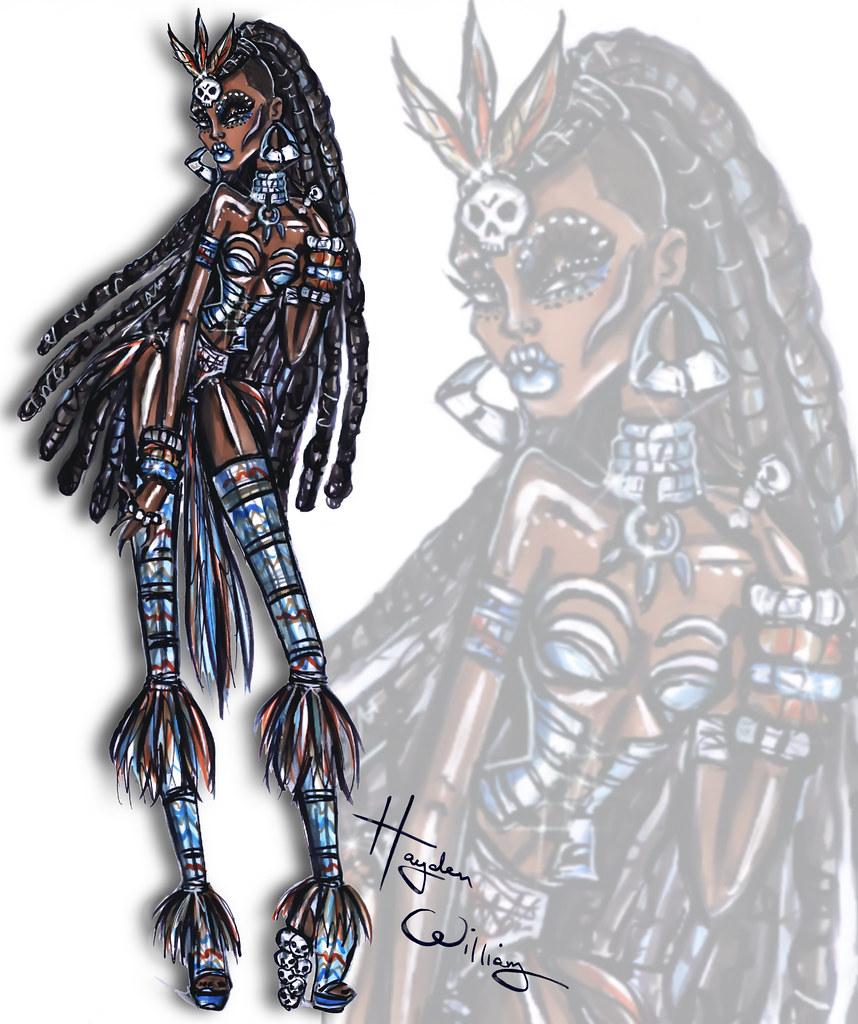 Voodoo Priestess' by Hayden Williams #HauntCouture #Hallo
