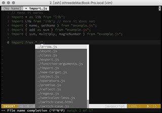 Vim Filename Complete | by othree
