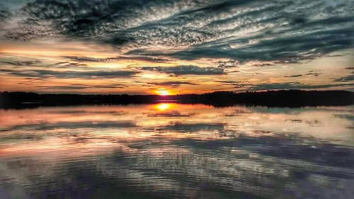reflections partlycloudy sunset northcarolina