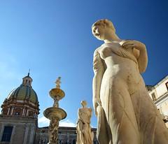 Palermo sicily Italy piazza Pretoria fontana della vergogna