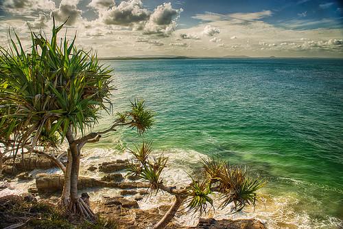 sea ocean landscape seascape beach rocks waves oceanwaves pwpartlycloudyday